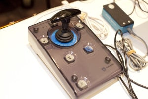A photo of a joy stick device.