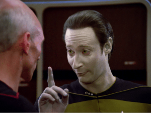 Data, the android from Star Trek: The Next Generation