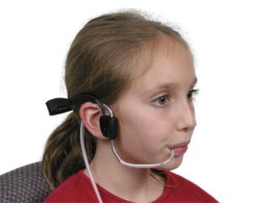 sip puff switch with headset