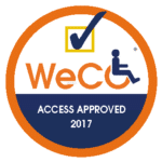 WeCo's Access Approved trademark certified seal