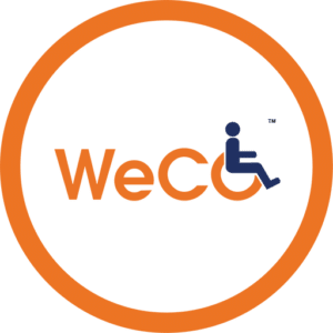 Making a website accessible depicted by image WeCo logo.