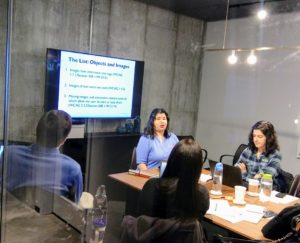 A WeCo training class in a conference room.