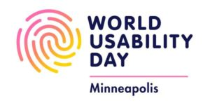 Logo for World Usability Day Minnesota 2018.