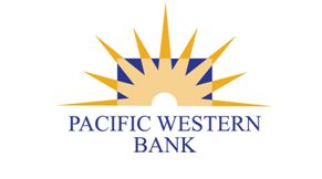Pacific Western Bank logo: a sunrise image over the bank name.