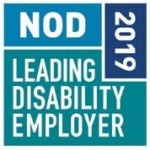 "NOD Leading Disability Employer - 2019"" logo."