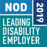 NOD Leading Disability Employer 2019 logo.
