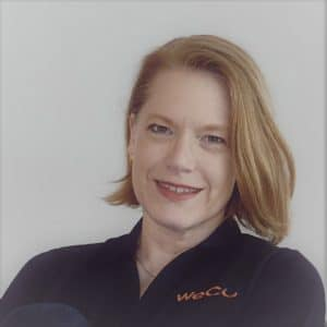 Lynn Wehrman, WeCo Founder and President, who views disability as an expertise.